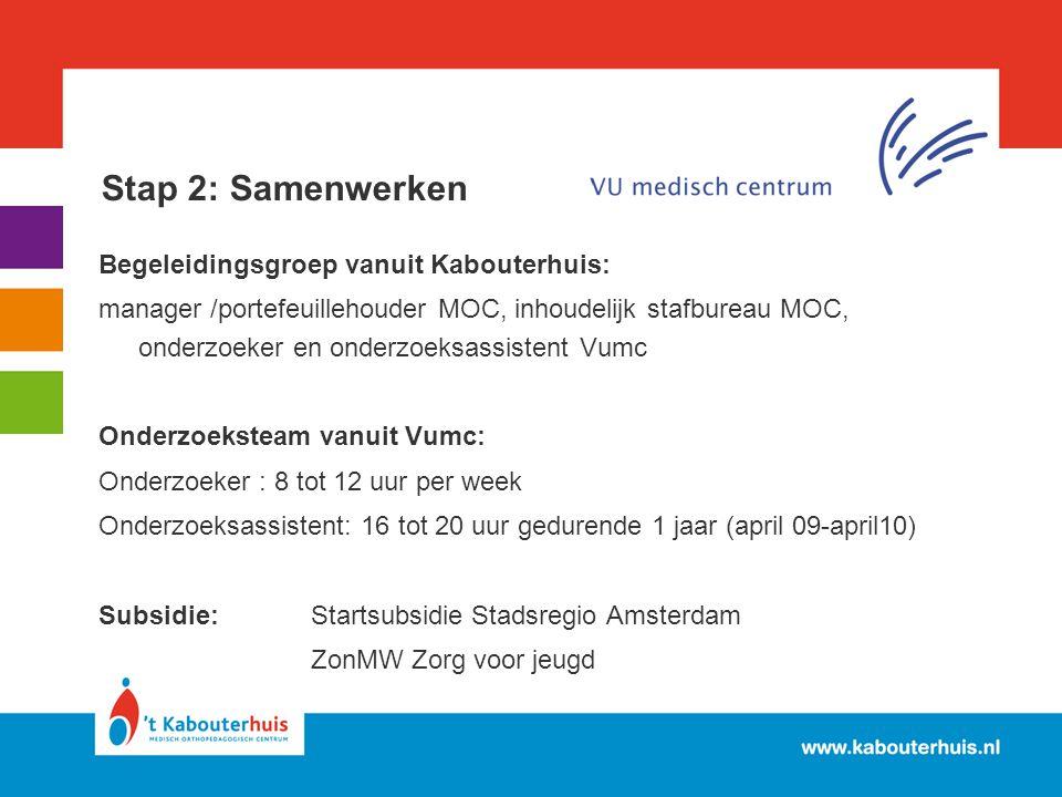 Stap 2: Samenwerken Begeleidingsgroep vanuit Kabouterhuis: