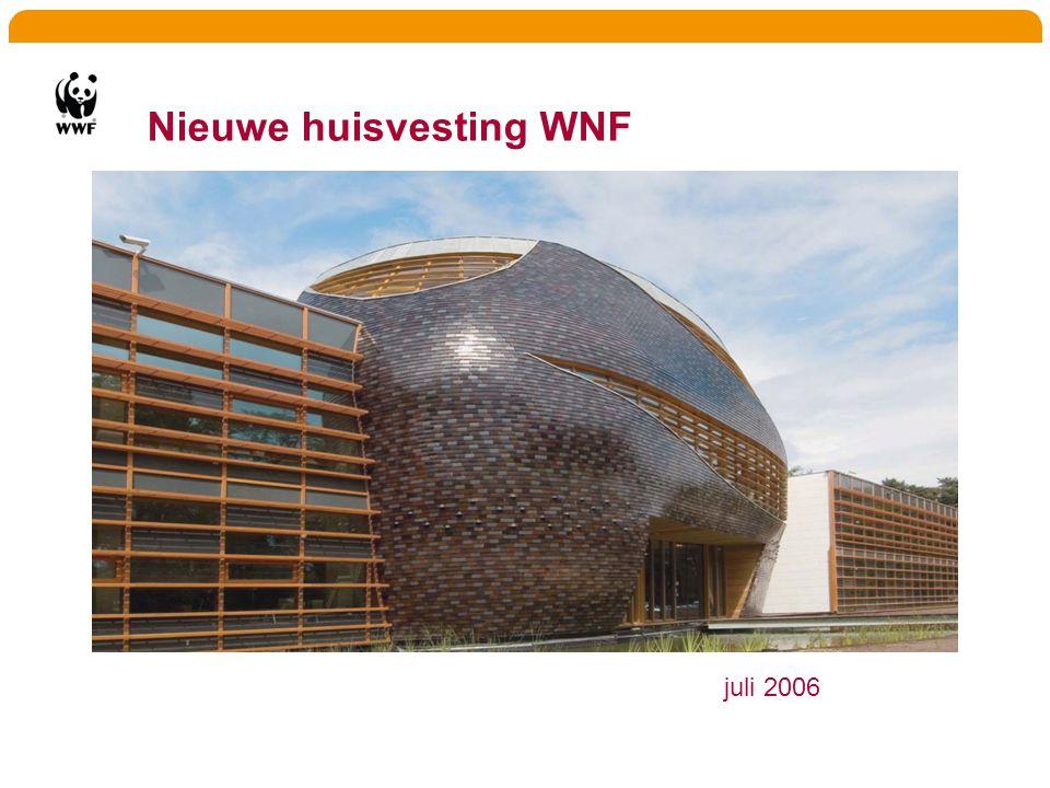 Nieuwe huisvesting WNF