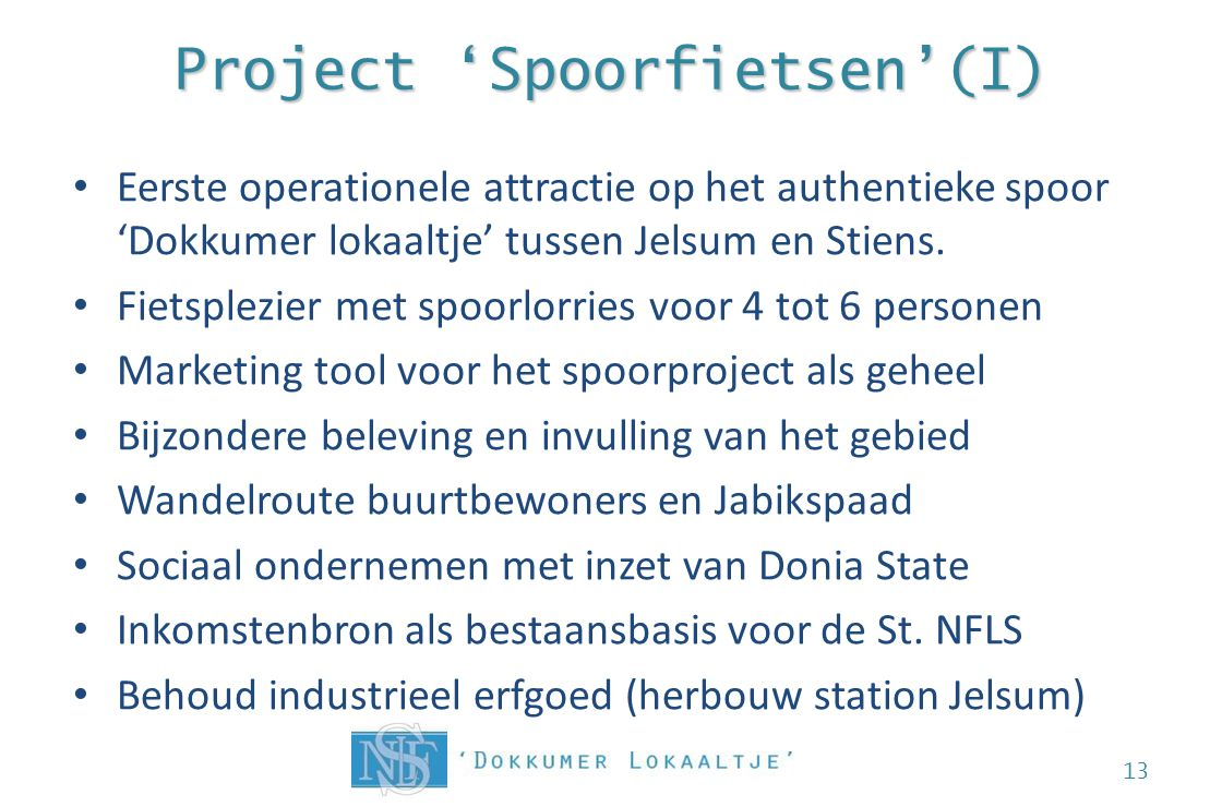 Project 'Spoorfietsen'(I)