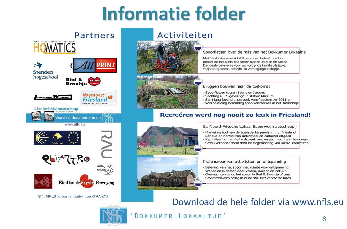 Informatie folder Download de hele folder via www.nfls.eu 8