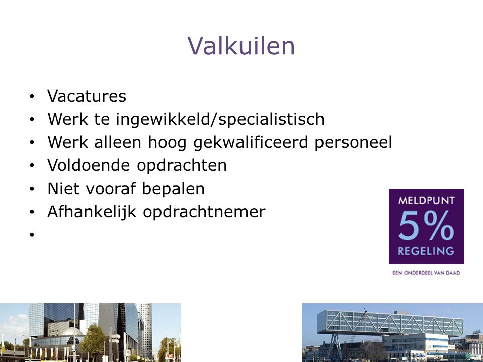 Valkuilen Vacatures Werk te ingewikkeld/specialistisch