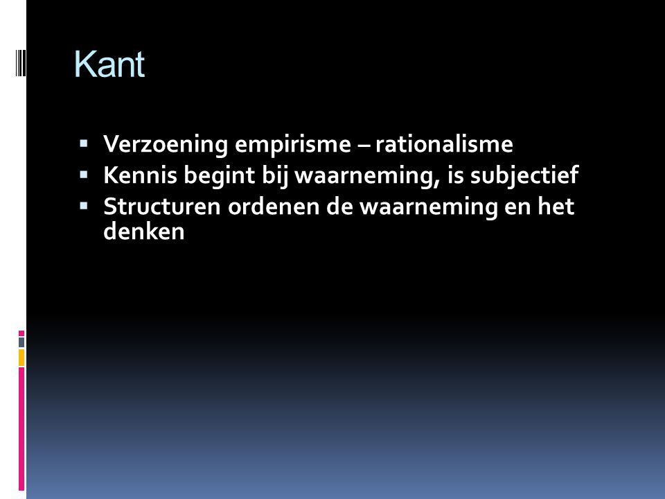 Kant Verzoening empirisme – rationalisme