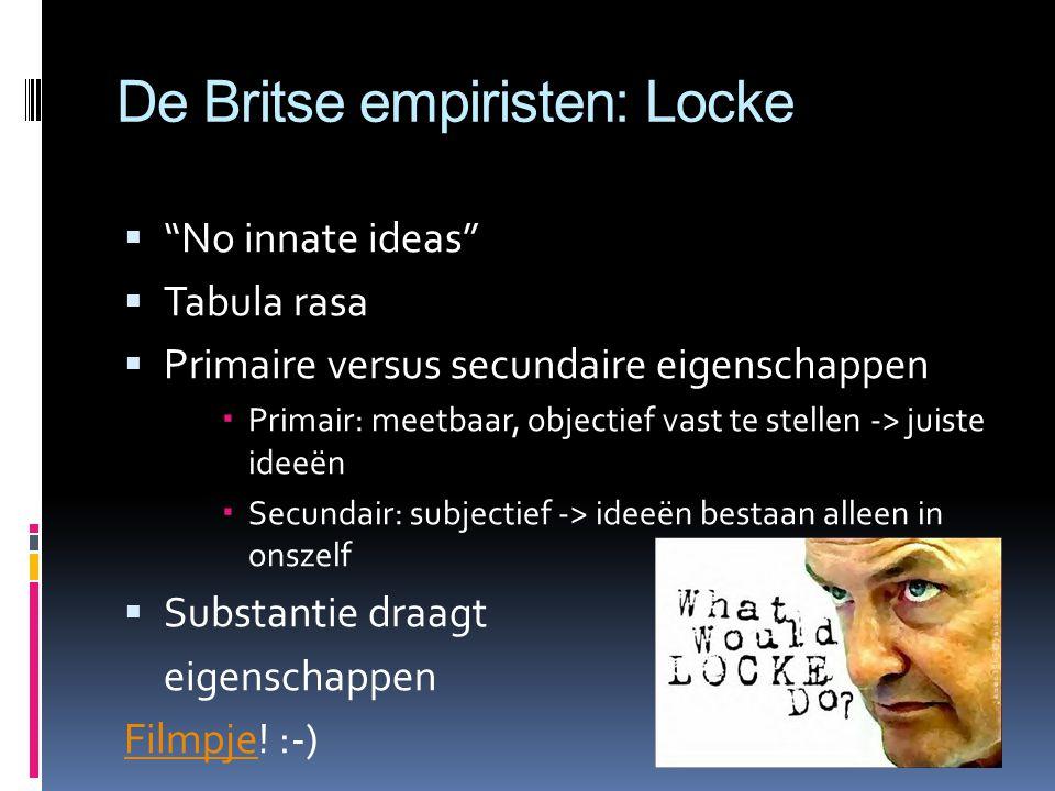 De Britse empiristen: Locke