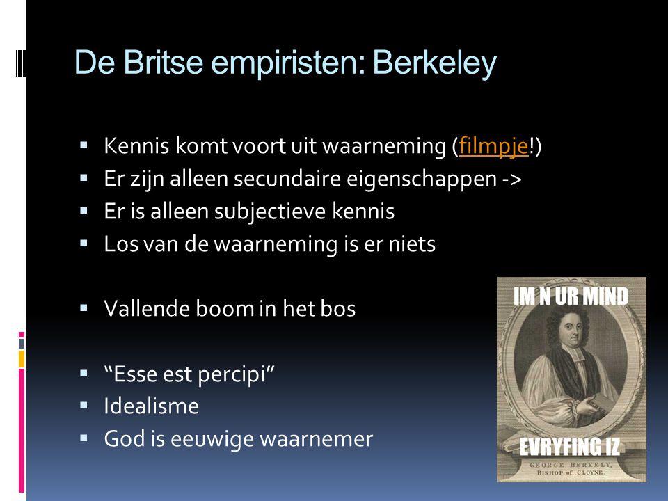 De Britse empiristen: Berkeley