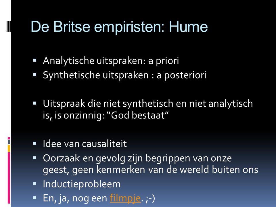 De Britse empiristen: Hume