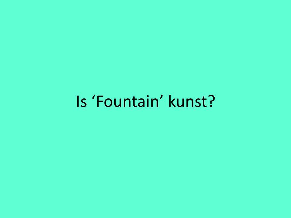 Is 'Fountain' kunst