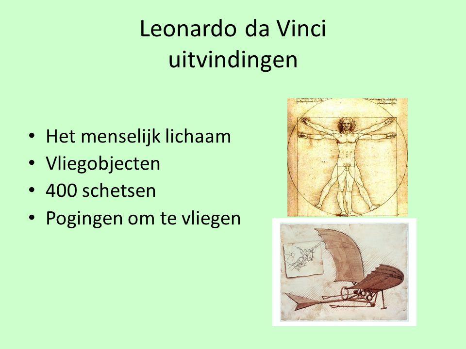 Leonardo da Vinci uitvindingen