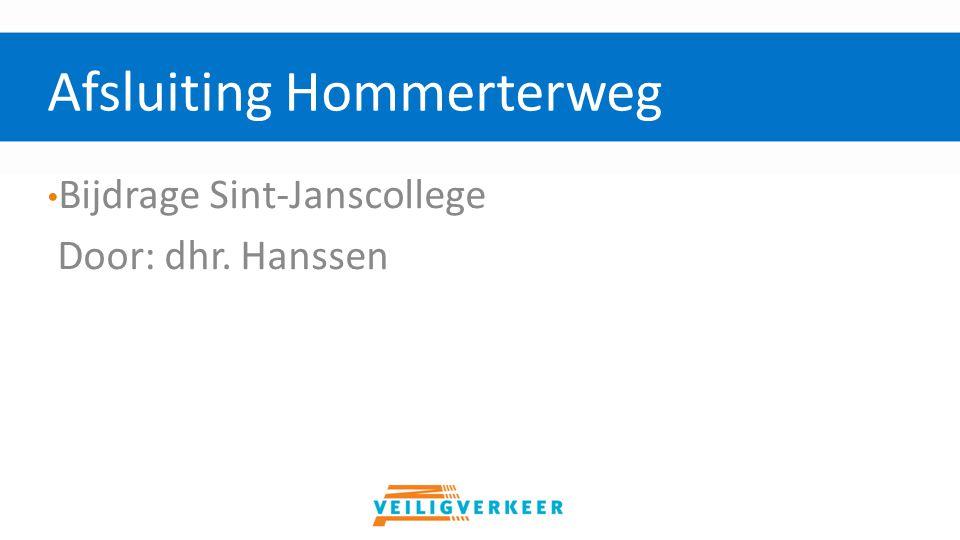 Bijdrage Sint-Janscollege Door: dhr. Hanssen