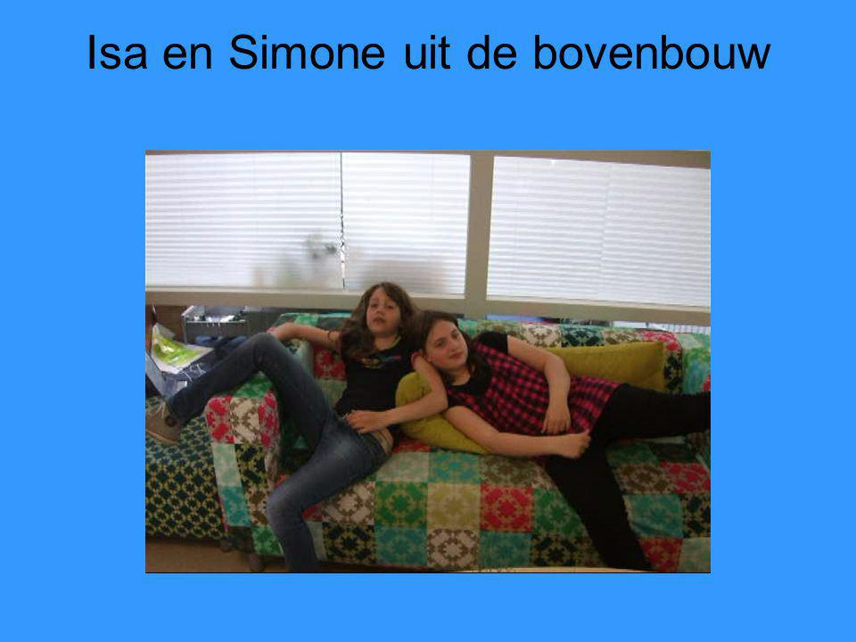 Isa en Simone uit de bovenbouw