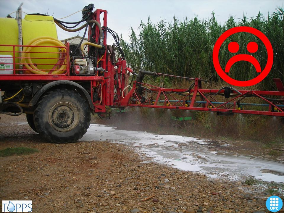 Do not operate sprayer when stationary (statement 4250).
