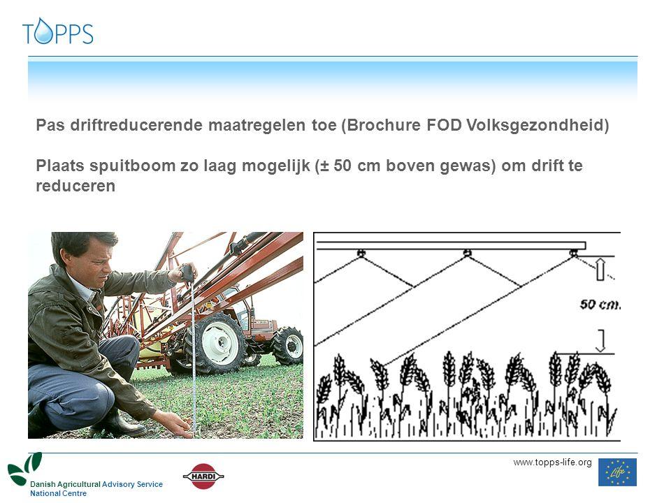 Pas driftreducerende maatregelen toe (Brochure FOD Volksgezondheid)
