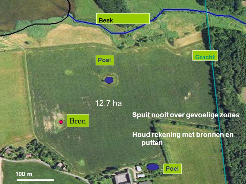 12.7 ha Bron Spuit nooit over gevoelige zones