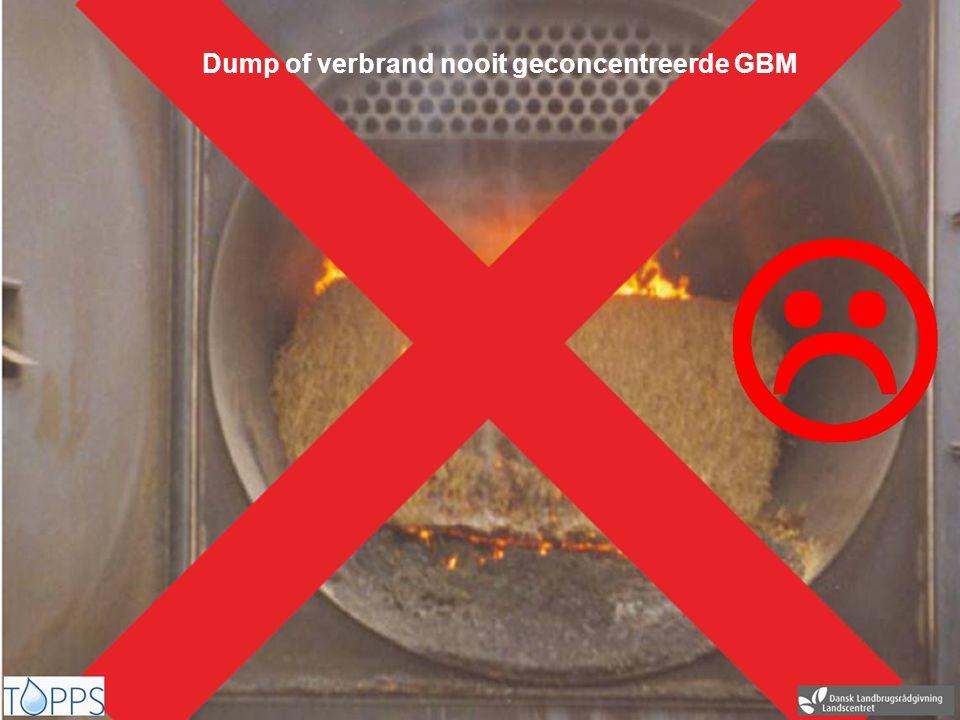 Dump of verbrand nooit geconcentreerde GBM