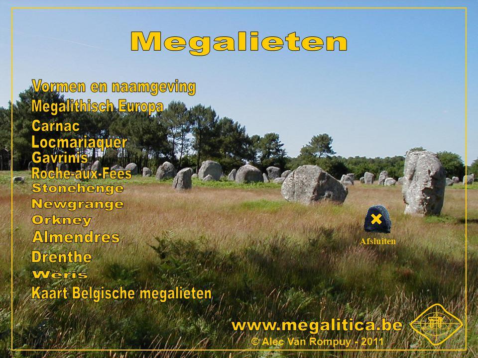 Kaart Belgische megalieten