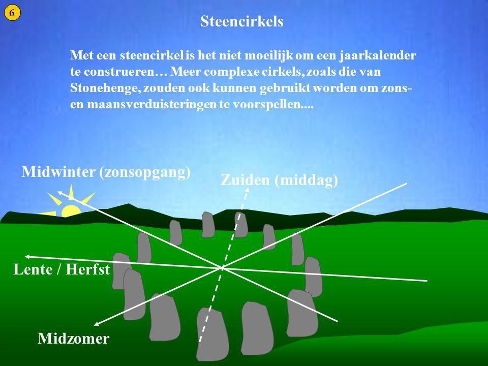 Steencirkels 1 Steencirkels Midwinter (zonsopgang) Zuiden (middag)