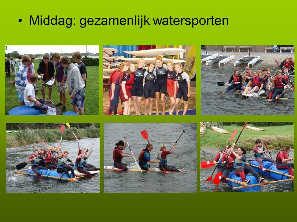 Middag: gezamenlijk watersporten