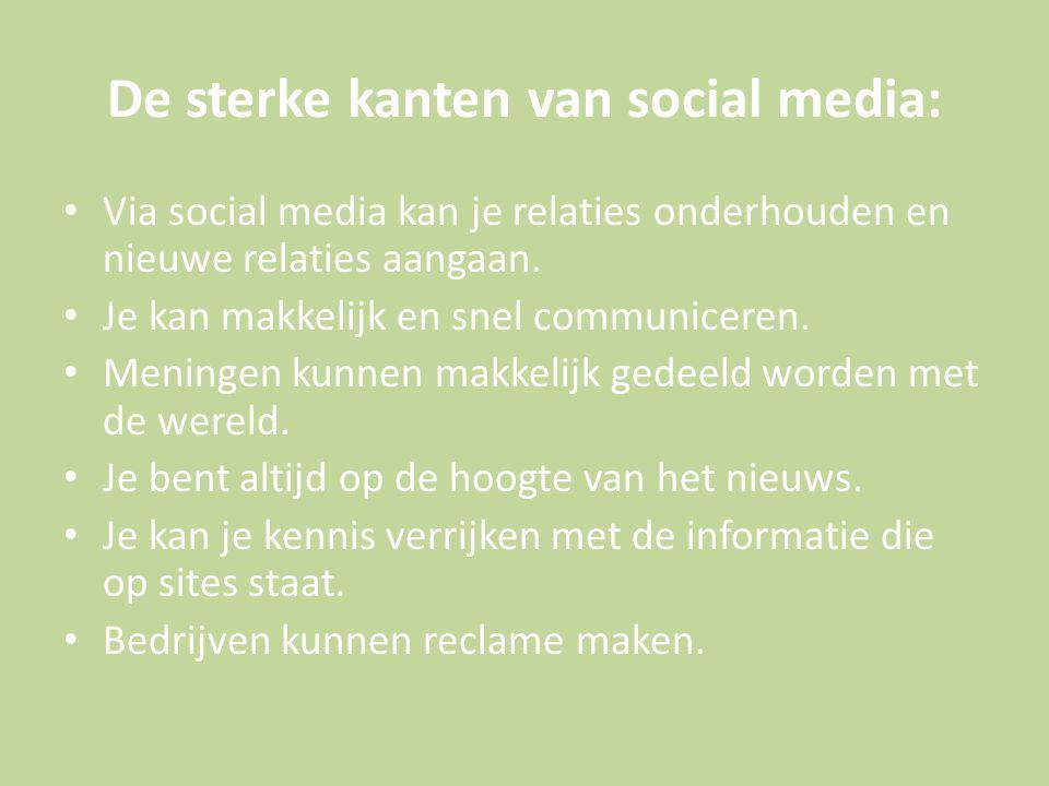 De sterke kanten van social media:
