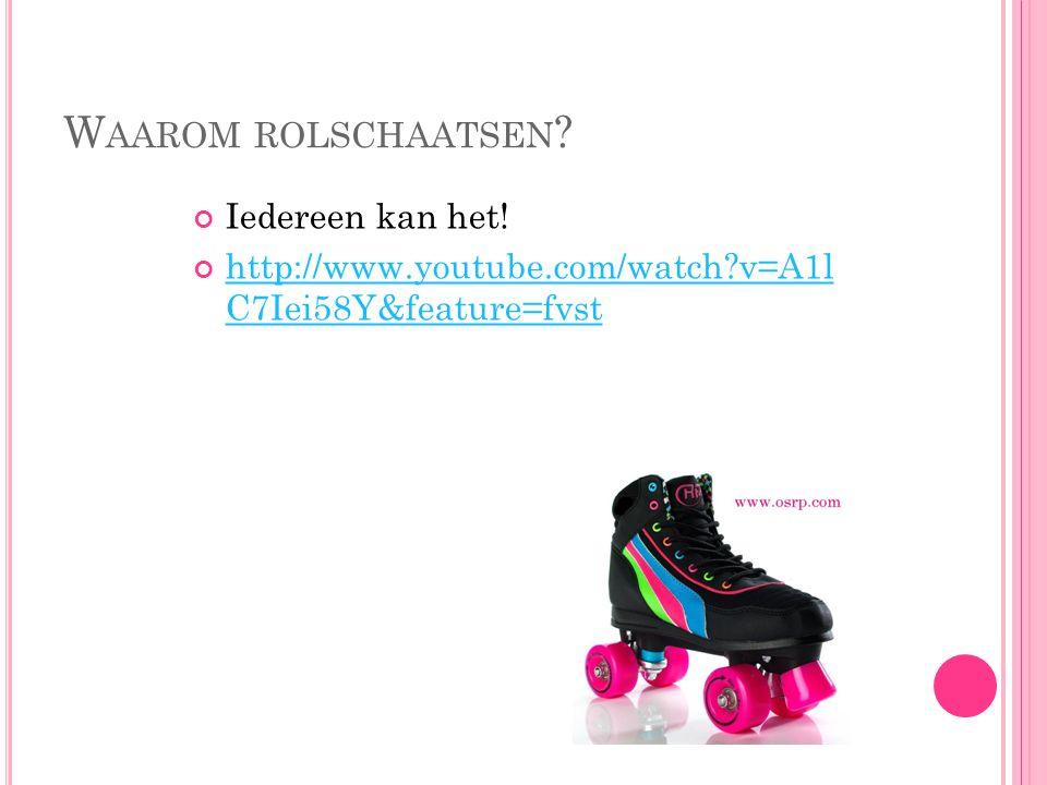 Waarom rolschaatsen Iedereen kan het!