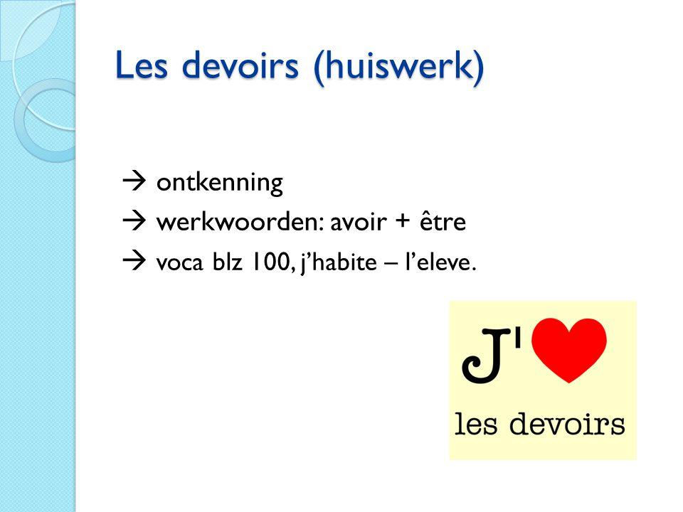 Les devoirs (huiswerk)