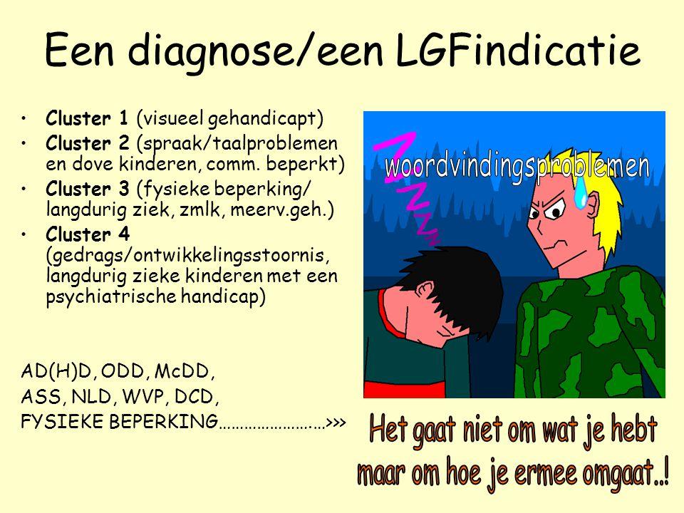 Een diagnose/een LGFindicatie