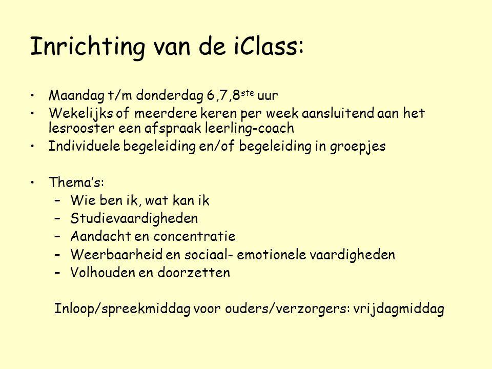 Inrichting van de iClass: