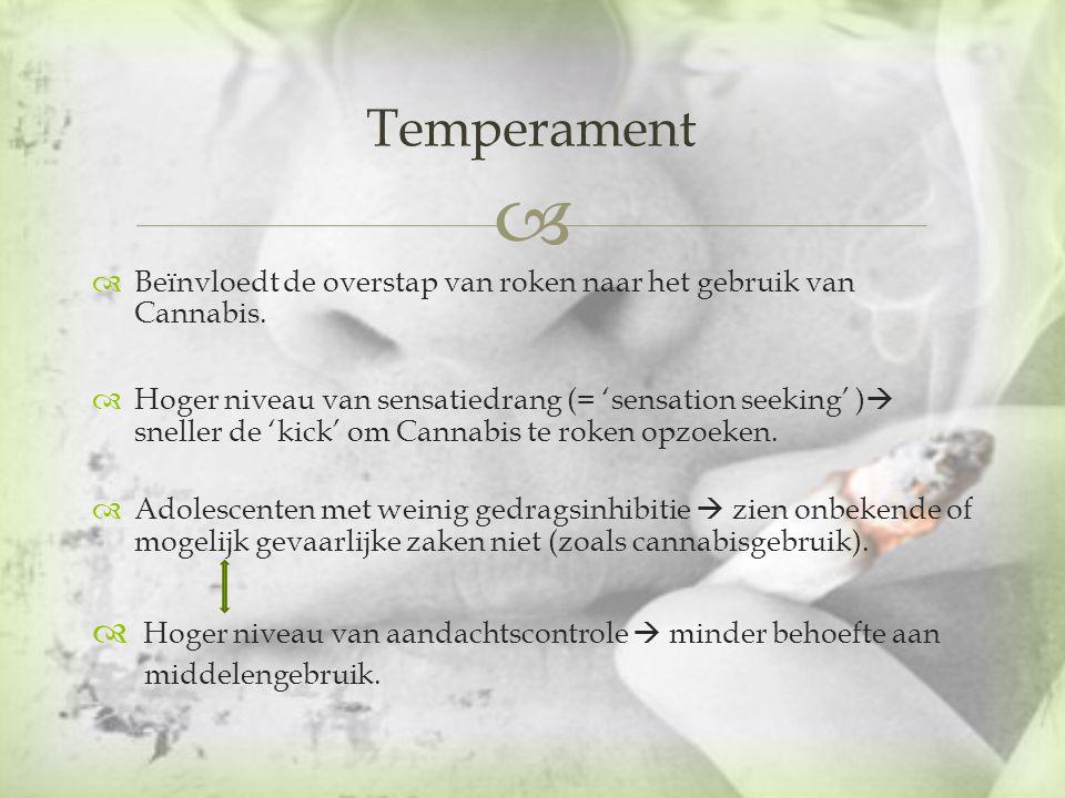 Temperament Hoger niveau van aandachtscontrole  minder behoefte aan