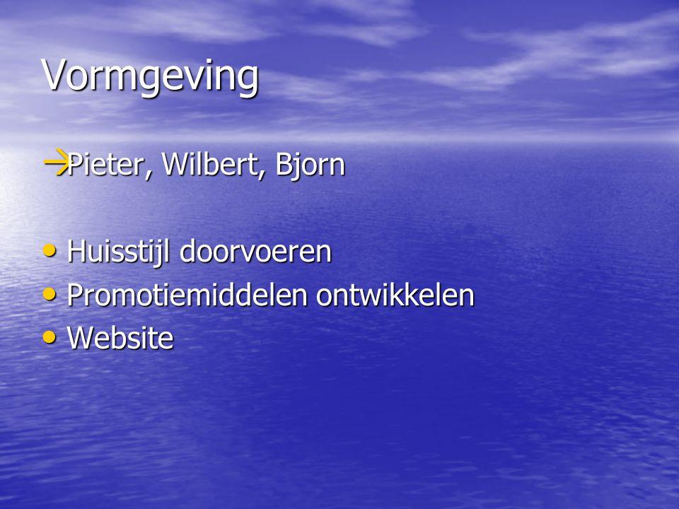 Vormgeving Pieter, Wilbert, Bjorn Huisstijl doorvoeren