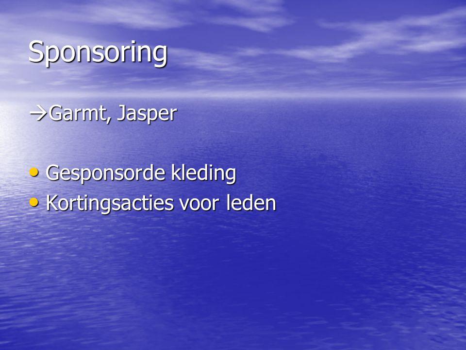 Sponsoring Garmt, Jasper Gesponsorde kleding
