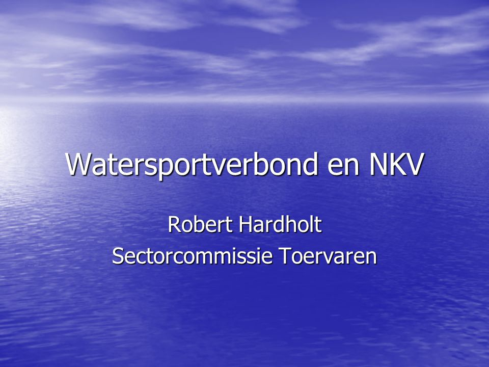 Watersportverbond en NKV