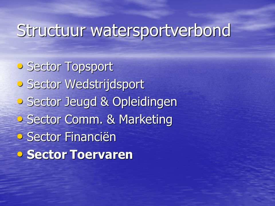 Structuur watersportverbond