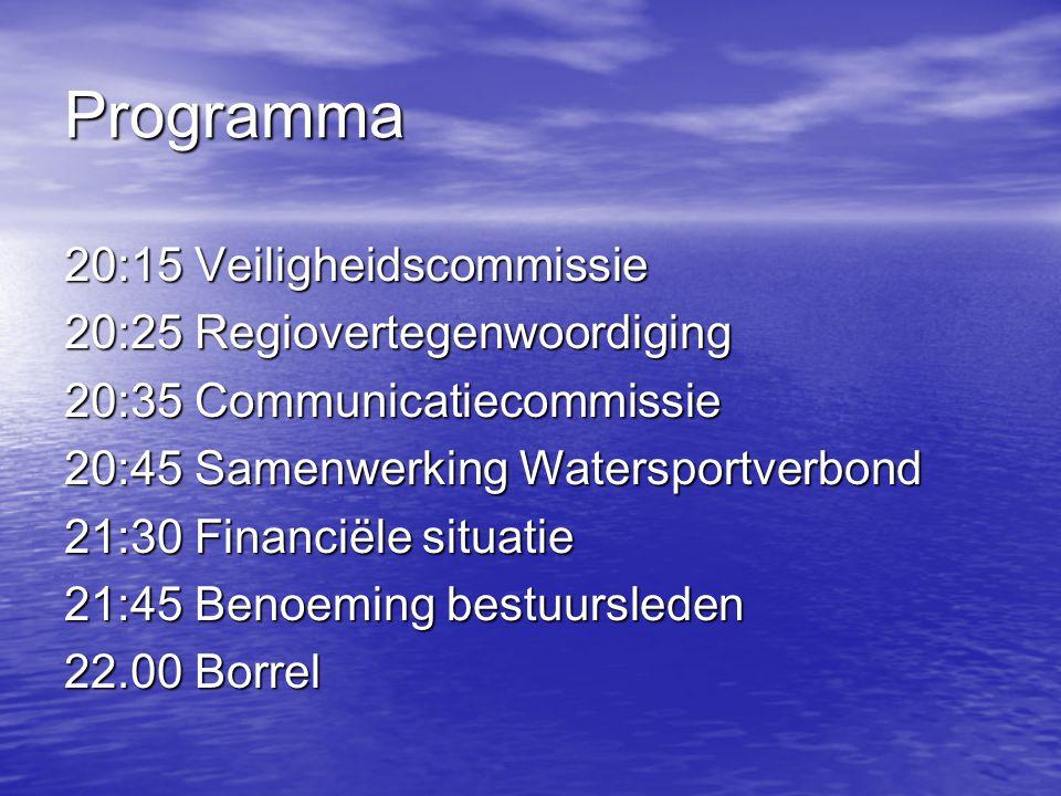 Programma 20:15 Veiligheidscommissie 20:25 Regiovertegenwoordiging