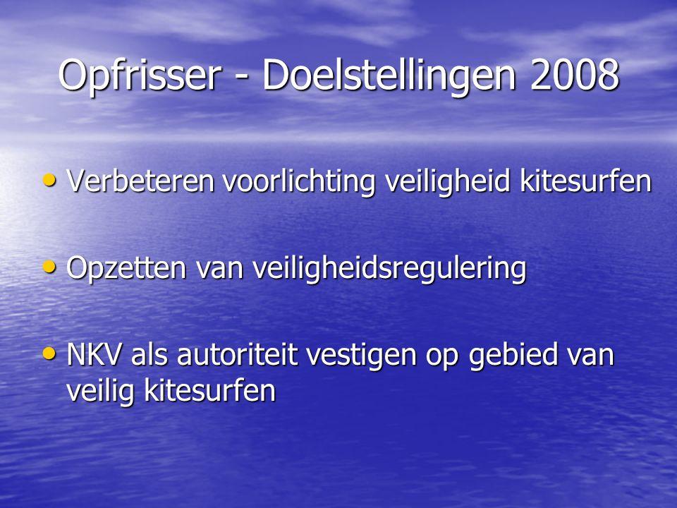 Opfrisser - Doelstellingen 2008