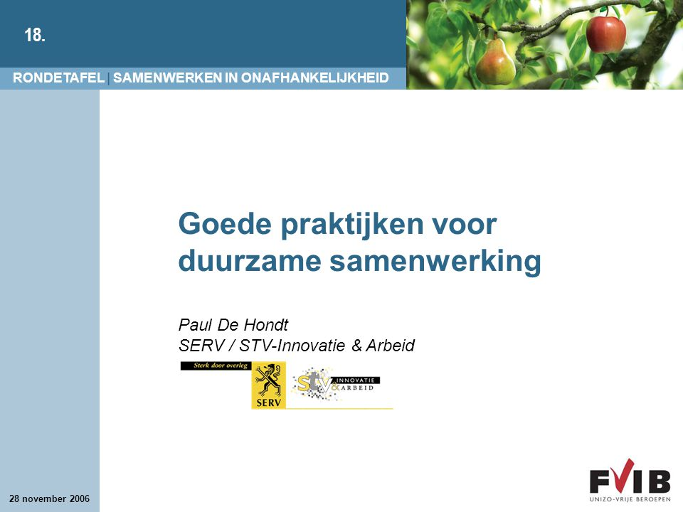 Goede praktijken voor duurzame samenwerking