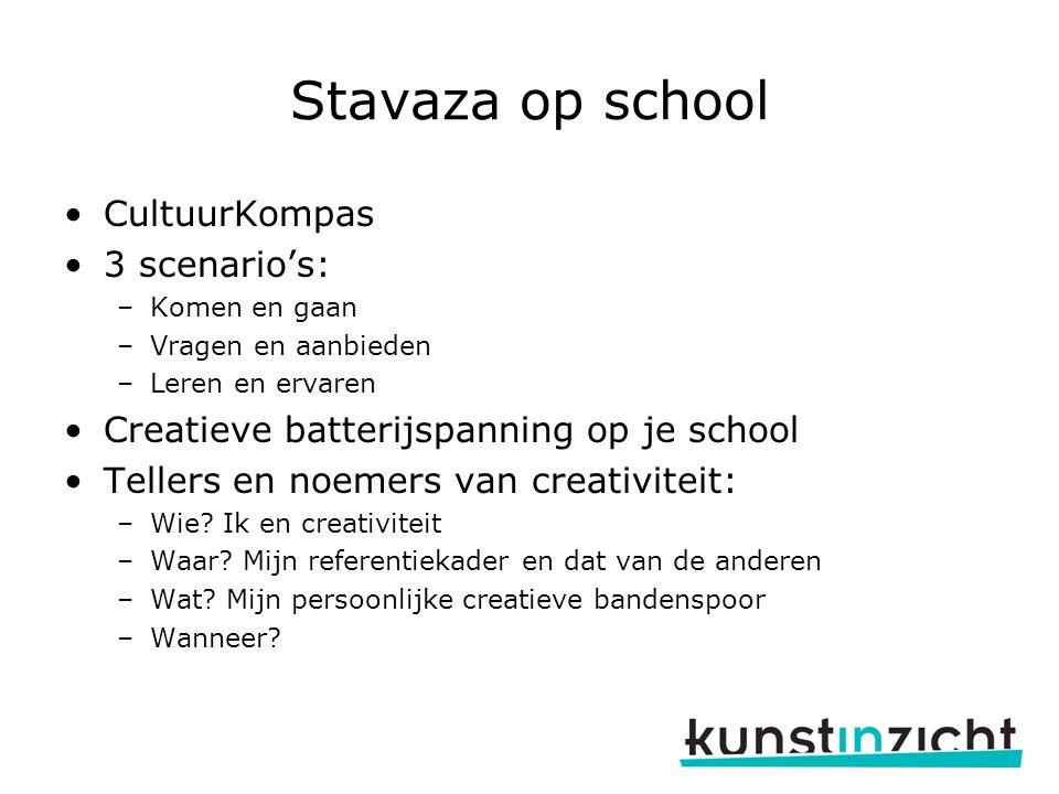 Stavaza op school CultuurKompas 3 scenario's: