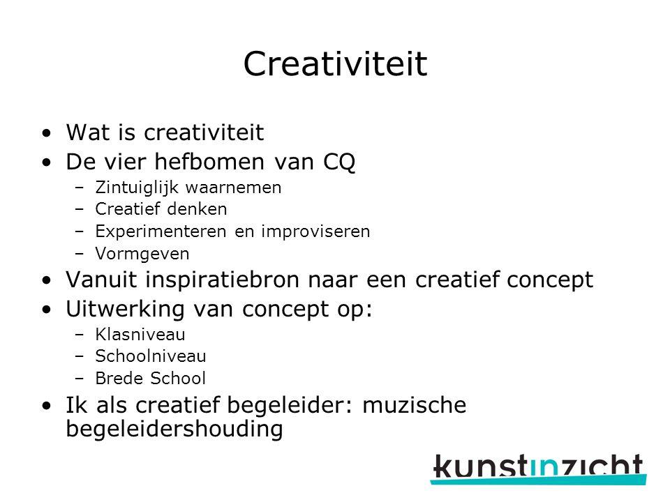 Creativiteit Wat is creativiteit De vier hefbomen van CQ