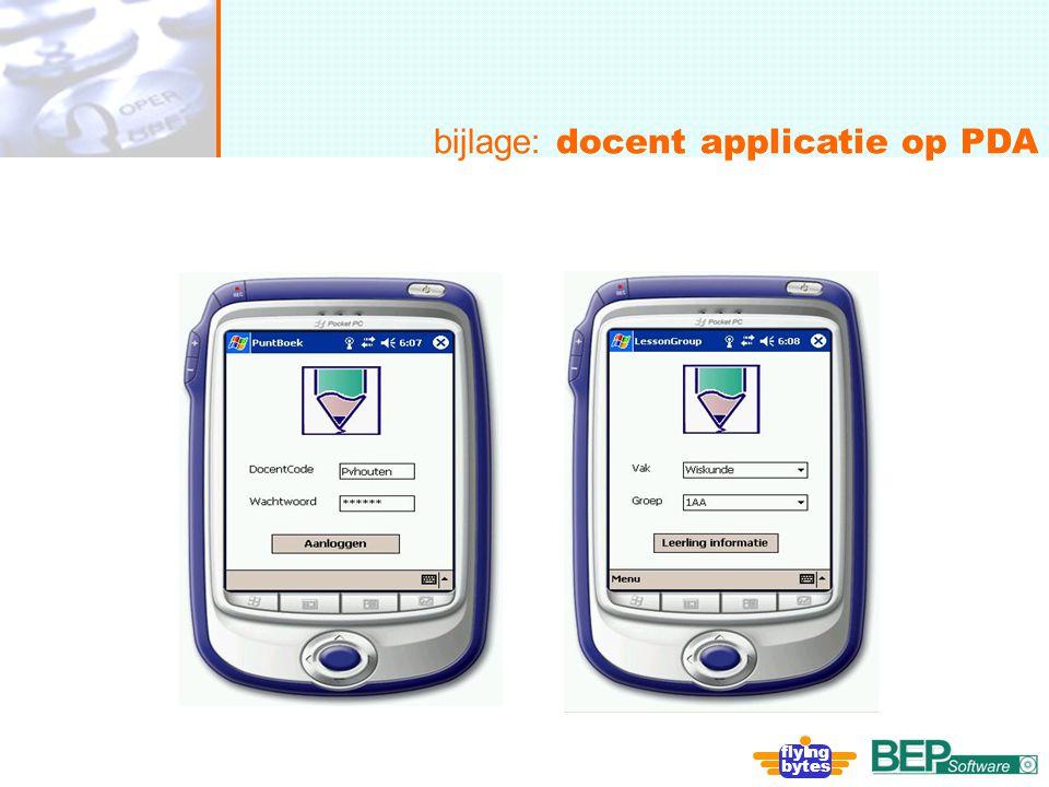 bijlage: docent applicatie op PDA