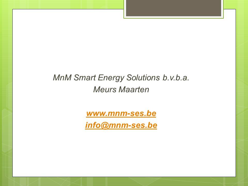 MnM Smart Energy Solutions b. v. b. a. Meurs Maarten www. mnm-ses