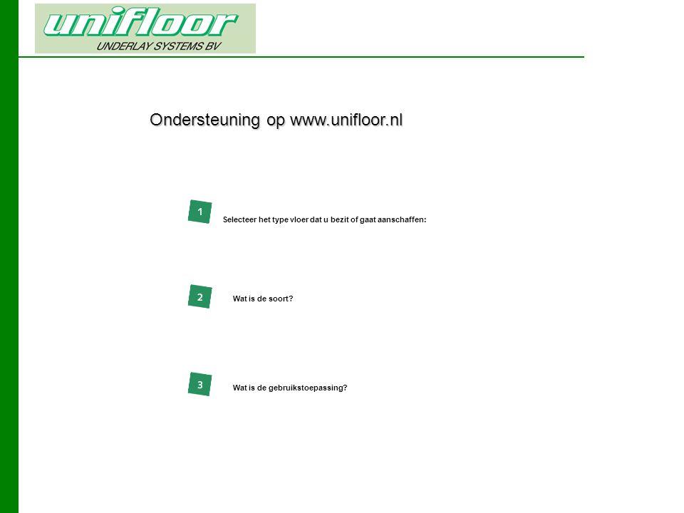 Ondersteuning op www.unifloor.nl Wat is de soort