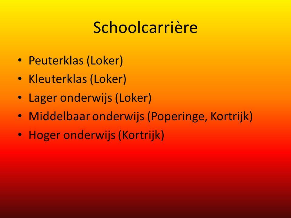 Schoolcarrière Peuterklas (Loker) Kleuterklas (Loker)