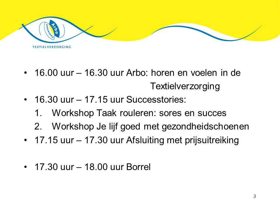 16.00 uur – 16.30 uur Arbo: horen en voelen in de Textielverzorging