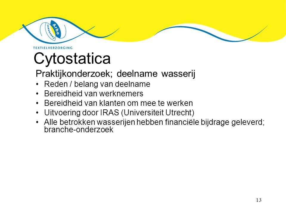 Cytostatica Praktijkonderzoek; deelname wasserij