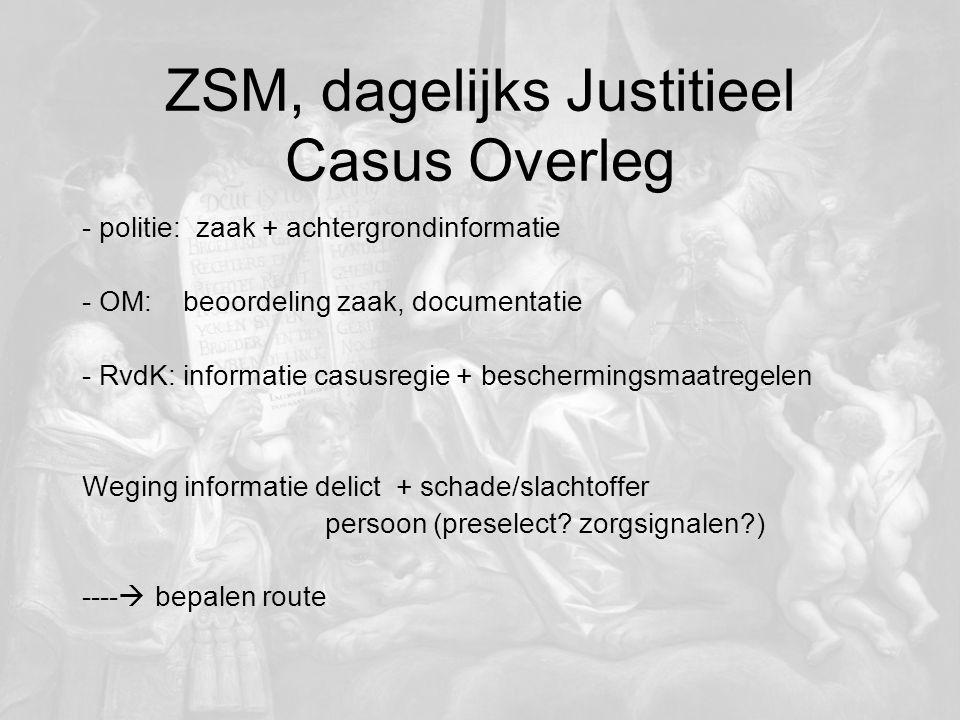 ZSM, dagelijks Justitieel Casus Overleg