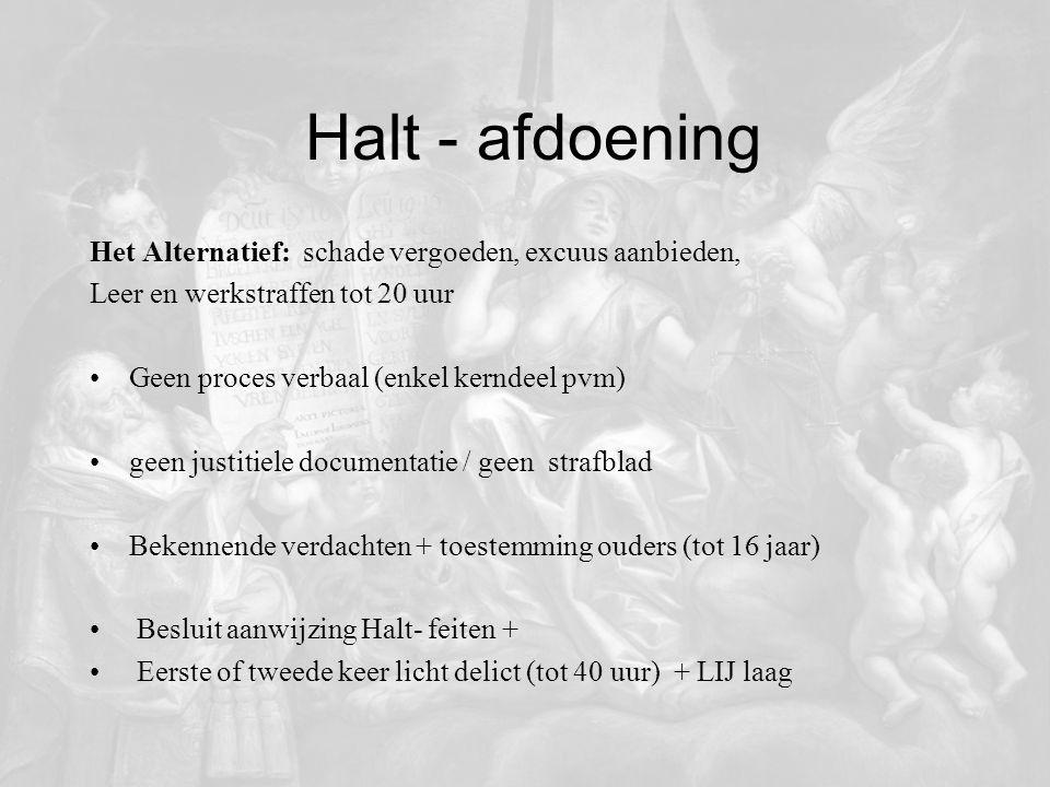 Halt - afdoening Het Alternatief: schade vergoeden, excuus aanbieden,
