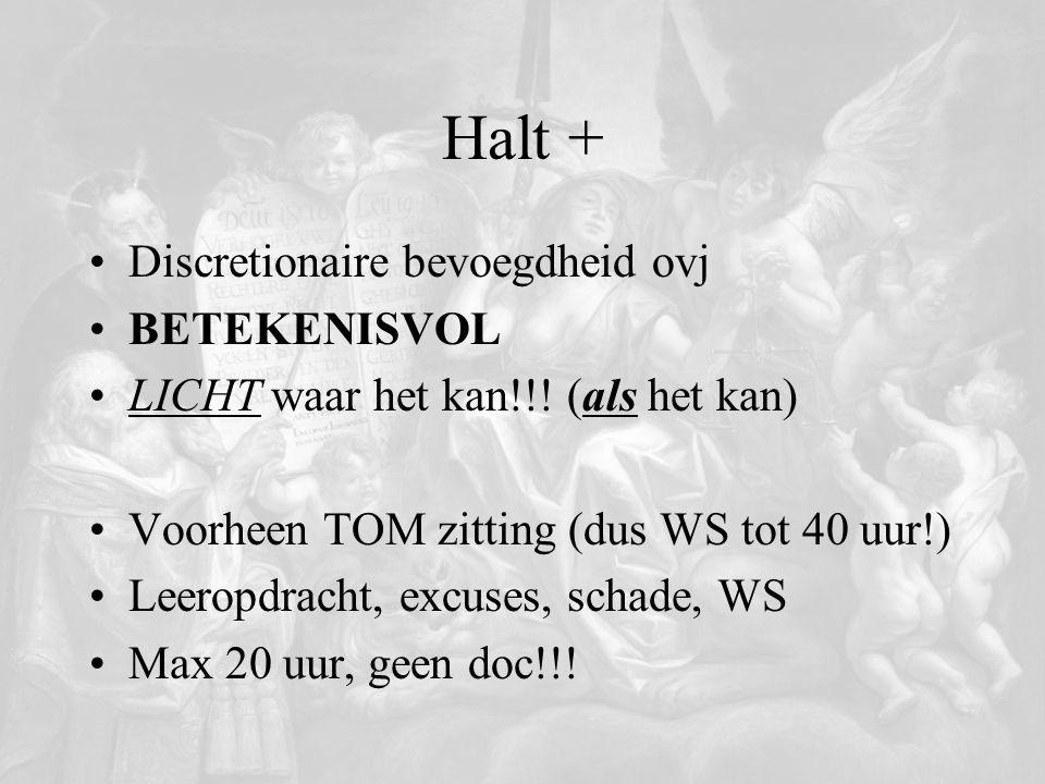 Halt + Discretionaire bevoegdheid ovj BETEKENISVOL