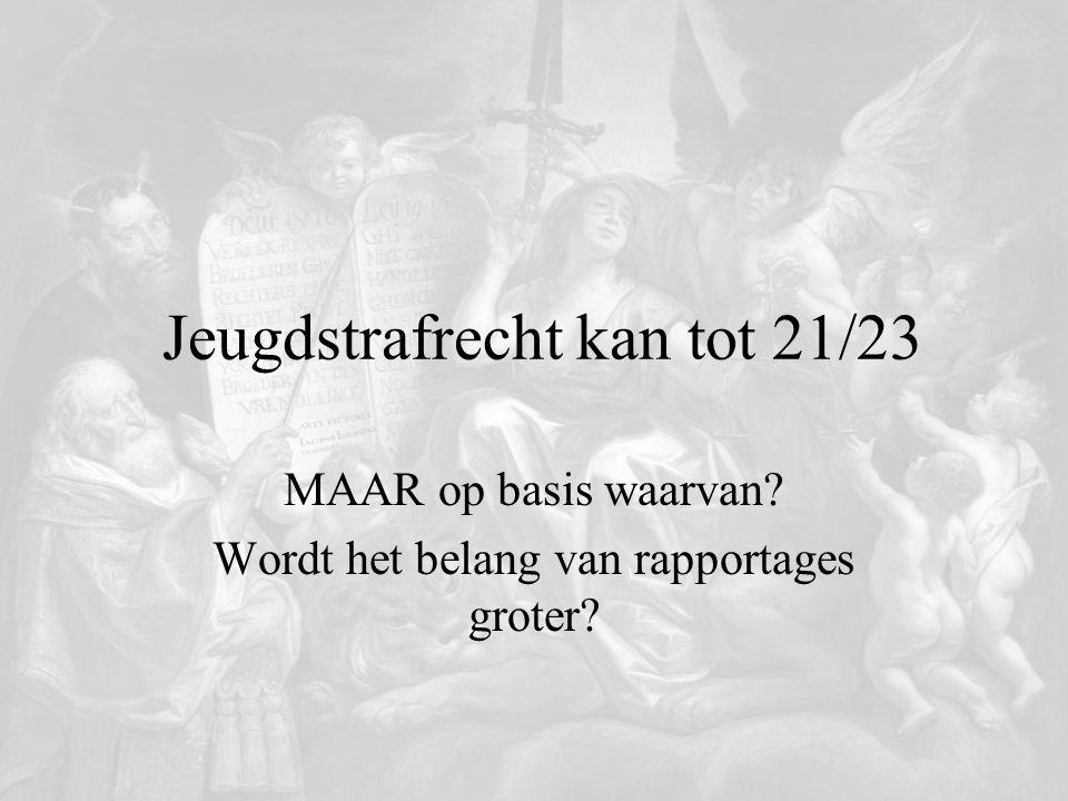 Jeugdstrafrecht kan tot 21/23