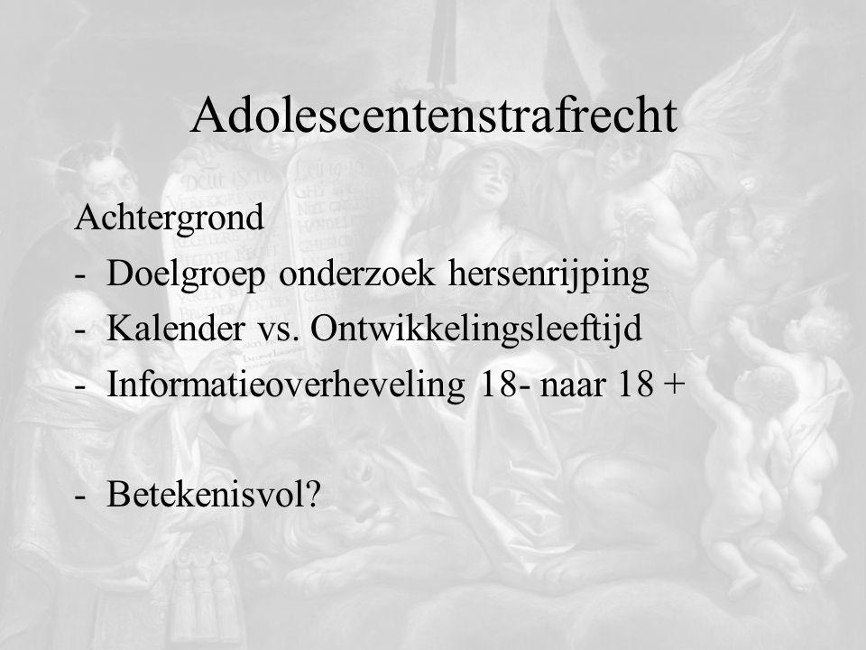 Adolescentenstrafrecht