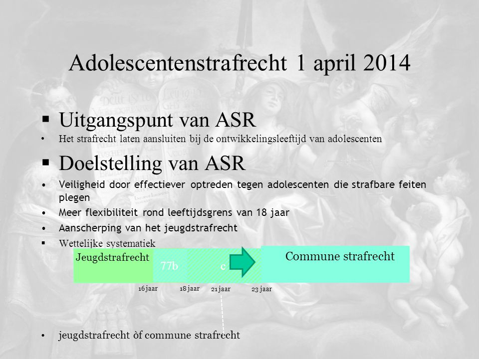 Adolescentenstrafrecht 1 april 2014