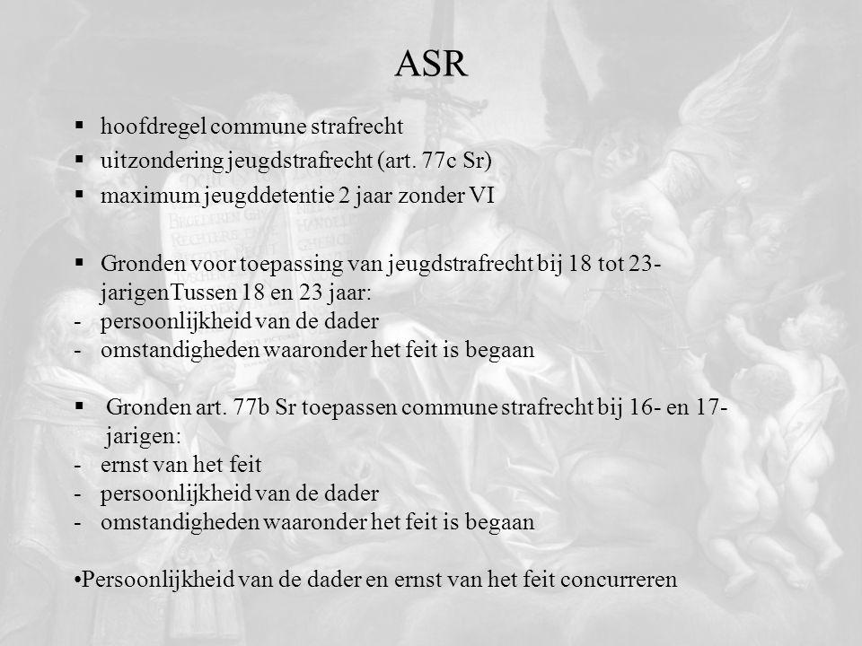 ASR hoofdregel commune strafrecht
