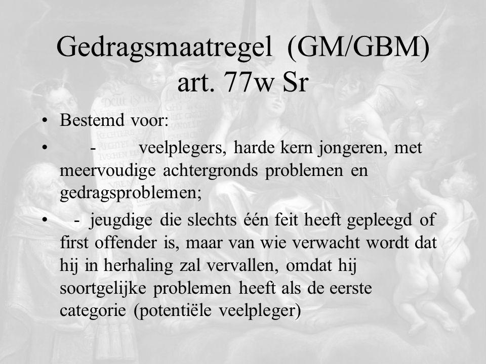 Gedragsmaatregel (GM/GBM) art. 77w Sr