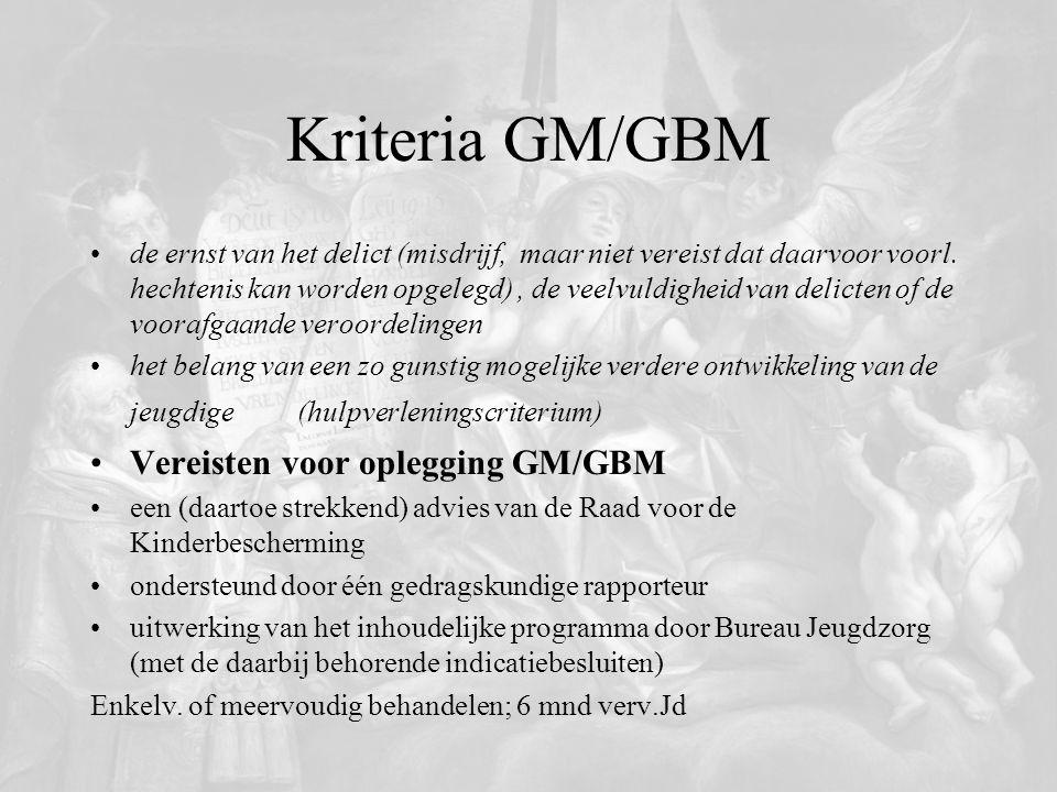 Kriteria GM/GBM Vereisten voor oplegging GM/GBM